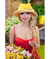 Женская летняя желтая шляпа с ушками (шляпка-кошка), цвета в ассортименте
