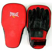 Лапы боксерские Everlast прямые удлиненные кожа арт. MA-0002
