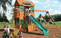 Игровой комплекс ONTARIO для детей. Детская площадка из дерева Онтарио., фото 1