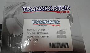 Тормозные колодки рено мастер /  Renault Master 2010- (спарка) Transporterparts Польша 04.0184 (задние), фото 2