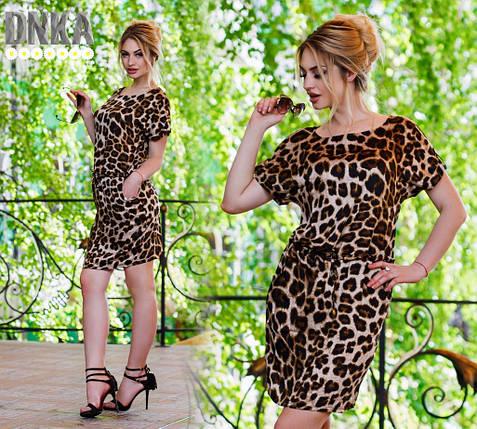 Леопардовое платье штапель, фото 2