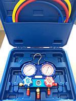 Коллектор заправочный 2-вентильный WK-P3603S DSZH в кейсе R22, R134a, R404a