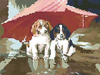 """Алмазные картины полной выкладки """"Верные друзья"""" Размер: 41*33 см Код 198359"""