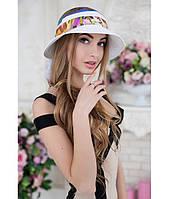 Женская летняя белая шляпа с опущенными полями, цвета в ассортименте