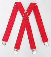 Широкие мужские красные подтяжки, фото 1