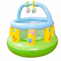 Манеж-батут надувной детский круглый 48474 Intex
