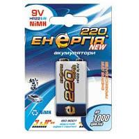 Аккумулятор бытовой Энергия 9V U-1 крона (4V, 220mAh, 1/10)