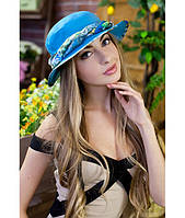 Женская бирюзовая шляпа-панама, цвета в ассортименте