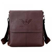 Мужская сумка Giorgio Armani, Армани коричневая