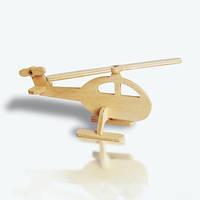 Игрушка деревянная вертолет, (лазер)