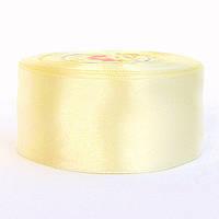 Лента атласная 4 см, цвет айвори