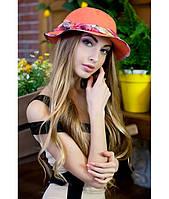 Женская оранжевая шляпа-панама, цвета в ассортименте