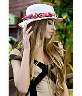 Женская белая шляпа-панама, цвета в ассортименте