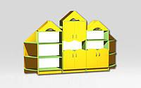 Детская стенка Домик 2800-350-1800