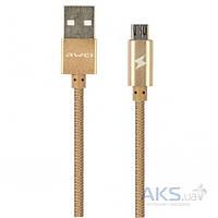 USB кабель AWEI micro-USB Gold CL-400