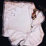 """Крыжма для крещения """" Ангел махровая """" с вышивкой имени, фото 5"""