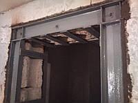 Укрепление дверных и оконных проемов. Обварить дверной (оконный) проем в несущей стене.
