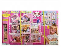 Кукольный дом для Barbie с куклой (8+1 комната)  Уценка!
