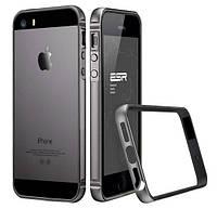 Бампер Evogue metal + silicon для iPhone 5/5s/5se Gray
