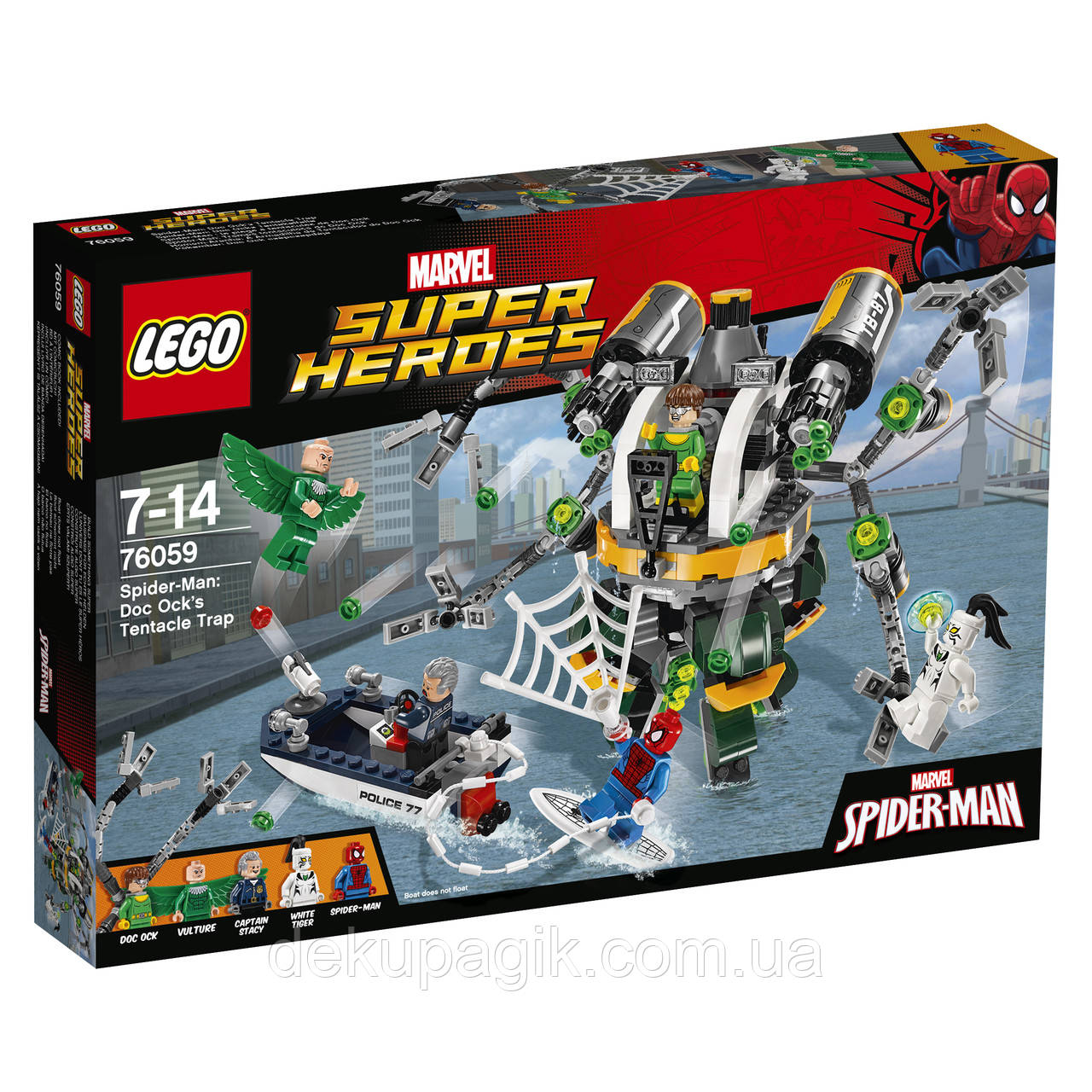 LEGO Super Heroes Человек-паук: в ловушке Доктора Осьминога 76059