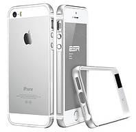 Бампер Evogue metal + silicon для iPhone 5/5s/5se Silver
