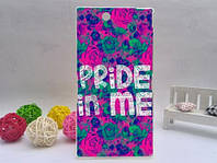Силиконовый чехол бампер для Sony Xperia Z ultra / c6802 / XL39h с картинкой Pride in me