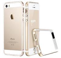 Бампер Evogue metal + silicon для iPhone 5/5s/5se Champagne Gold