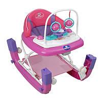 Детские ходунки-качалка музыкальные Pilsan  розово-фиолетовые
