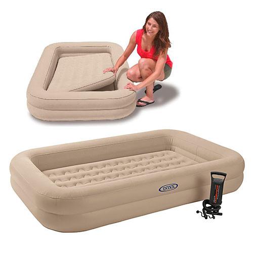 Велюровая кровать надувная прямоугольная Intex 66810