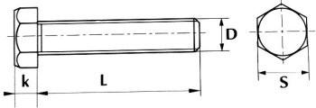 Болт DIN 933 8.8