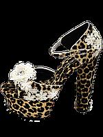Босоножки на каблуке леопард с ажуром Premium качество Хит с 35 размера по 40 в наличии