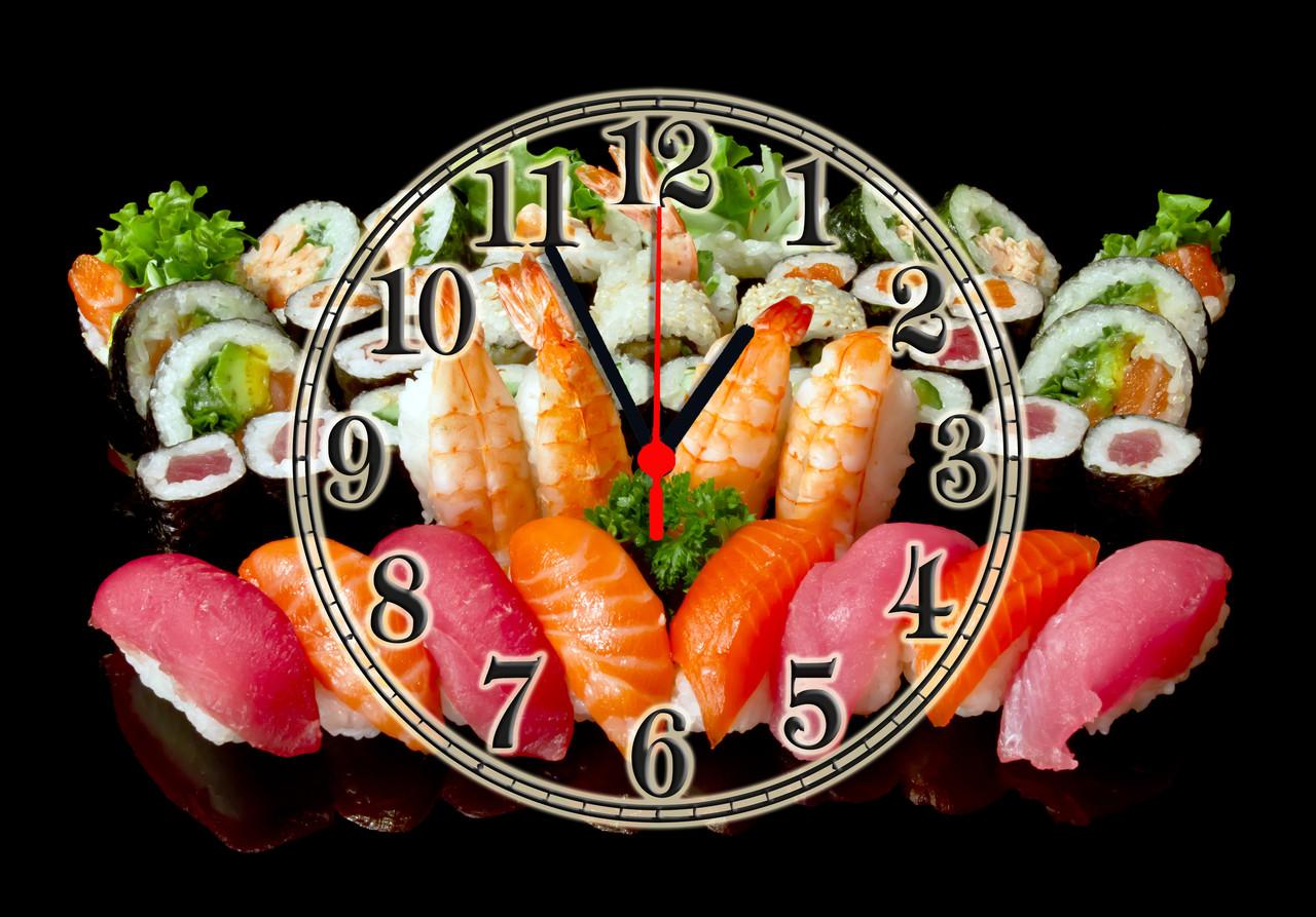 """Часы настенные стеклянные """"Sushi"""""""