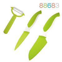 88683 Набор ножей (3 пр.), зелёный Granchio
