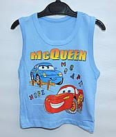 Майка для мальчика 1-4 года MCQueen голубая