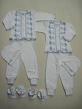 Крестильный костюм для мальчик 4 предмета интерлок
