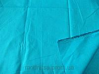 Поплин - стрейч (ярко - голубой) (арт. 12338) отрез 1,2 м