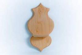 Полочка-подсвечник деревянная настенная №4