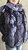 Жилет женский из меха чернобурки