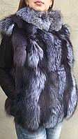 Жилет женский из меха чернобурки, фото 1