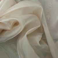 Тюль Микровуаль Семия топленое молоко, однотонная + высококачественный пошив
