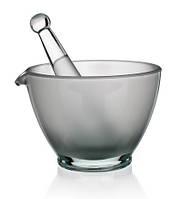 Скляна ступка з товкачем