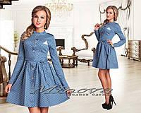Платье джинсовое в горошек Код:162710975