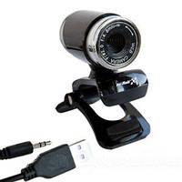 Универсальная веб камера для ПК Hi-Rali HI-CA006, встроенный микрофон, клипса на монитор