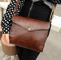 Женская сумка через плечо коричневого цвета, фото 1