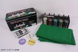 Настольная игра Покер 3896B в металлической коробке