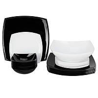 Столовый сервиз 18+1 предметов Luminarc Quadrato Black&White С5239