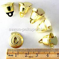 (20шт) МАЛЕНЬКИЕ Колокольчики металлические d=14мм . Цвет - золото