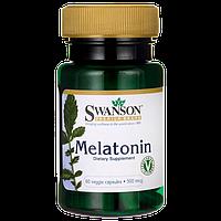 Мелатонин гормон сна, Melatonin, Swanson, 500 мкг, 60 таблеток