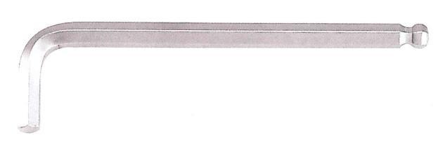 Ключ FORCE 765015XL 6-гр. (HEX) Г-обр. с шаром экстрадлинный 1.5 мм, L=14/90 мм