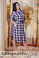 Женское платье с капюшоном большого размера Клетка
